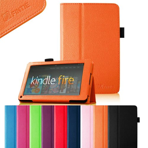 "Learn More About FINTIE (Orange) Slim Fit Folio Stand Leather Case for Amazon Kindle Fire 7"" Ta..."