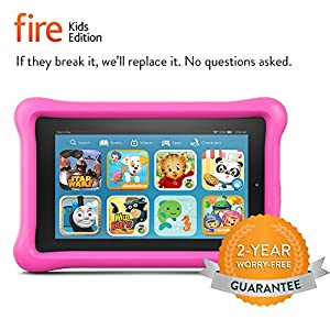 "Fire Kids Edition, 7"" Display, Wi-Fi, 8 GB, Pink Kid-Proof Case"