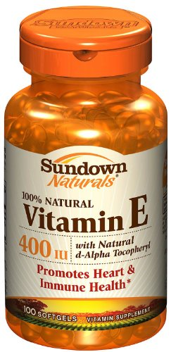 Sundown Vitamin E 400 Iu D-Alpha Natural Softgels, 100 Ct