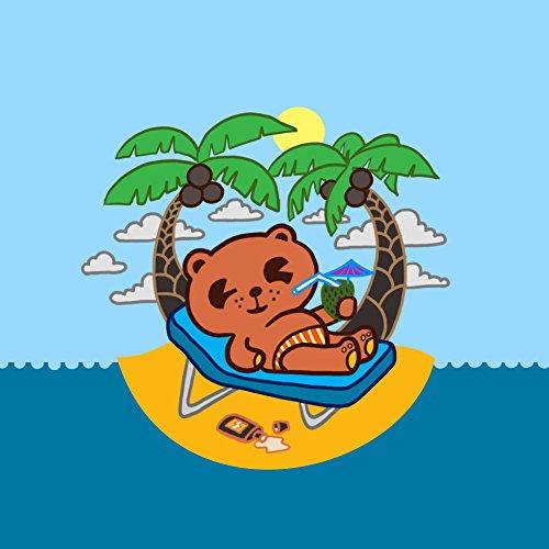 """Beach Rum Bear"" Funny Island Drinking Animal - Vinyl Sticker front-964863"