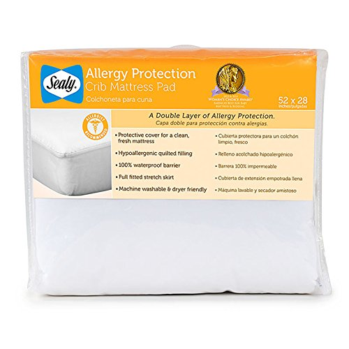 Sealy Allergy Protection Crib Mattress Pad (Discontinued by Manufacturer)