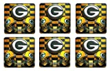 Green Bay Packers Coaster Set of 6 NFL Football Mini Mousepads at Amazon.com