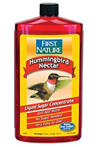 First Nature Red Hummingbird Nectar, 32-ounce Concentrate