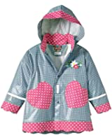 Playshoes Girl's Waterproof Jacket Hearts Country House Raincoat