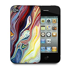 Snoogg Mixed Color Art Designer Protective Back Case Cover For IPHONE 4