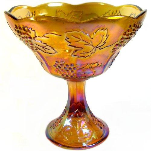 Indiana Glass Carnival Harvest Gold Wedding Bowl Harvest Grape Carnival Glass