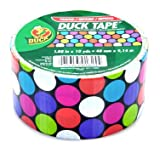 "Duck Brand Candy Dot Printed Duct Tape, 10 yards Length x 1-7/8"" Width"