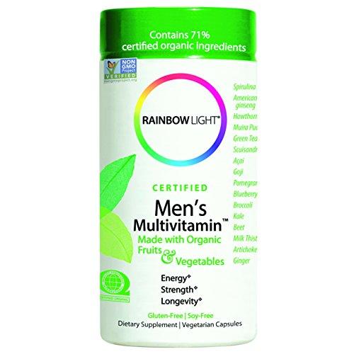 Rainbow Light, Men's Organic Multivitamin, 120 count - Package May Vary