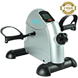 Pedal Exerciser by Vive - Best Portable Medical Exercise Peddler - Low Impact, Small Exercise Bike for Under Your Office Desk - Designed for Either Hands or Feet - 1 Year Guarantee