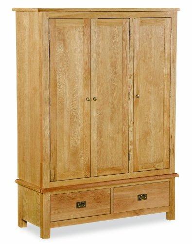 Lanner Oak Triple Wardrobe