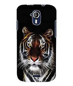 Fuson 3D Printed Tiger Designer Back Case Cover for Micromax Canvas Magnus A117 - D620
