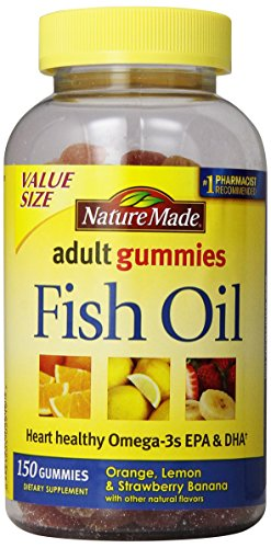 Nature made fish oil adult gummies nutritional supplements for Fish oil nutrition