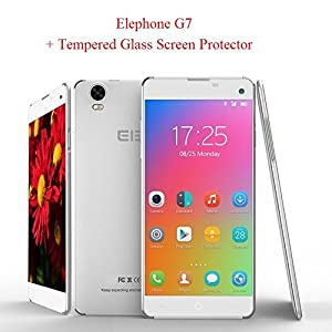 Bundle 5.5 inch ELEPHONE G7 Ultra slim 5.5mm MTK6592M Octa-Core 3G Smartphone - Bluetooth - 13MP Rear Camera + 8 MP front camera - 2650 Mah Battery + 1 Tempered glass screen protector