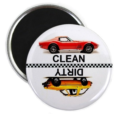 Get Race Car Clean Dirty Dishwasher Magnet deliver