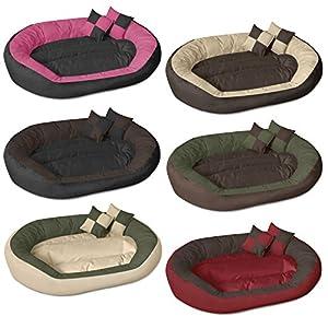 beddog saba 4en1 beige brun xxl 110x80 cm panier corbeille lit pour chien coussin de chien. Black Bedroom Furniture Sets. Home Design Ideas