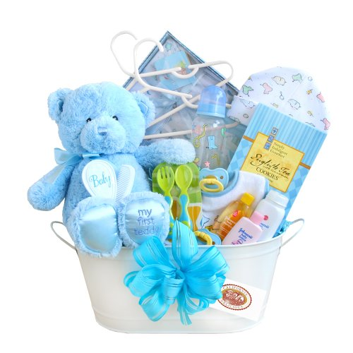California Delicious Gift Basket, New Arrival Baby Boy - 1