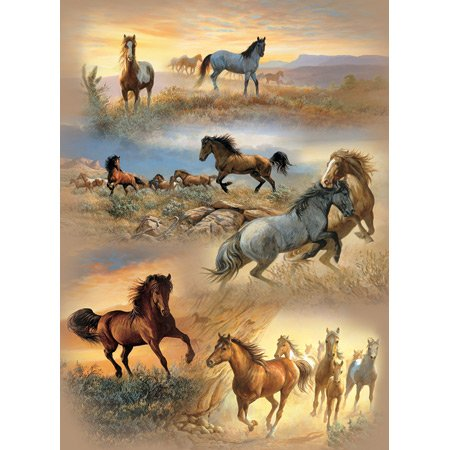 Cheap SunsOut Horse Cameos 1500pc Jigsaw Puzzle by Persis Clayton Weirs (B0034N2MEC)