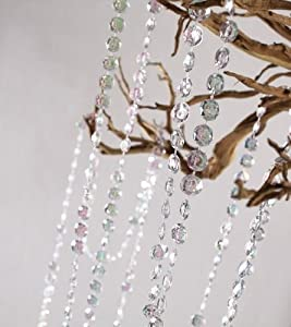 33 Yard Spool Clear Crystal Looking Acrylic Bead Garland for Party, Wedding and Holiday Decorations
