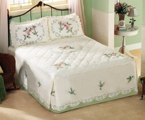 Floral Hummingbird Bedspread