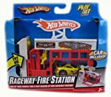 Hot Wheels Raceway Fire Station (Car Included)