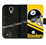 Christmas Gift-Samsung Galaxy S4 S IV Diary Leather Cover Case With Pittsburgh Steelers Pattern Designed By Coolphonecases at Amazon.com