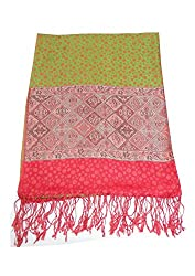 Maira Women's Pashmina Shawls & Stoles Red Colour