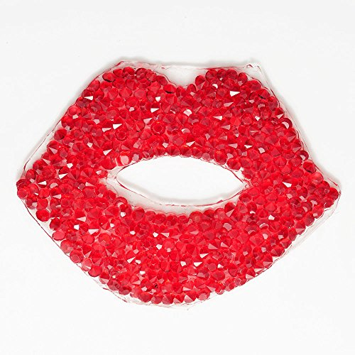 Rhinestone Crystal iron-on Lips Applique Patch by 1pc, 2-3/4