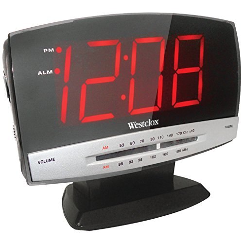 Westclox 80187 AM/FM LED Clock Radio