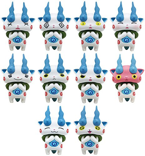 Japan Official Youkai Watch - NoseChara Komasan Stacking Collectable Cute Figure Model Collection Box Different Faces Yokai Kids Toy House Room White Decor Decoration Koma San NOS 38 Ensky