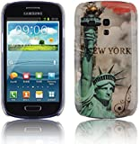 Cadorabo ! TPU Hard Cover für Samsung Galaxy S3 MINI (GT-I8190) im Muster New York Statue of Liberty