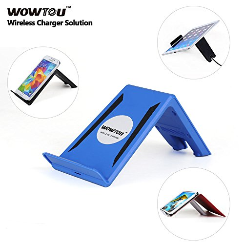 Wowtou(Tm) Model A6 Single Position Inductive Charger Stand Wireless Charger Stand For Ipad Air/Mini/4 Samsung Galaxy Tab P7510/P7500 Iphone 5/5S/4S/4 Samsung Galaxy S5/S4/S3/Note 3/2; Nokia Lumia 1020, Lumia 920, Lumia 820; Htc Droid Dna, Htc 8X, Htc Rzo