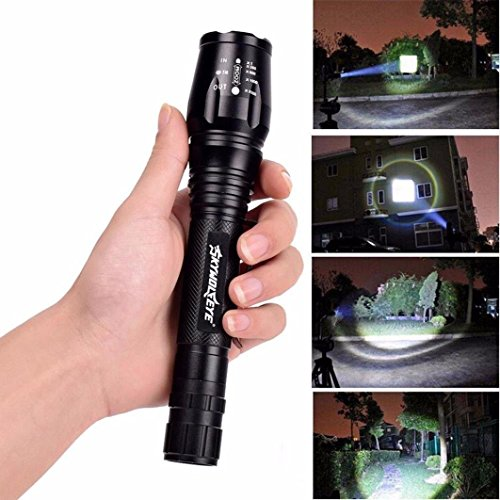 Flashlight,Baomabao Zoomable Tactical 4000 Lumen 5 Modes CREE XML T6 LED Torch Lamp Light 18650