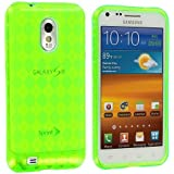 Neon Green TPU Rubber Skin Case Cover for Samsung Epic Touch 4G Sprint Galaxy S2 S II