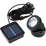 Docooler Outdoor Solar Powered LED Spotlight Lamp 6 LEDs For Pool Use