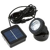 Anself Outdoor Solar Powered 6 LED Spotlight Garden Pool Waterproof Spot Light Lamp