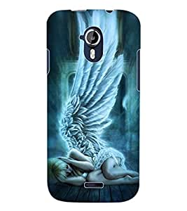 ColourCraft Angel Design Back Case Cover for MICROMAX CANVAS MAGNUS A117