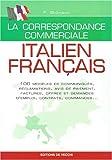 Correspondance commerciale, italien-français...