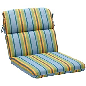 Amazon Pillow Perfect Outdoor Blue Green Stripe Round