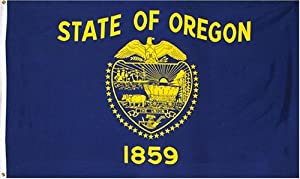 Indoor/Outdoor Mail In State Flags, Oregon & Washington State, 5 ft. x 3 ft. (AVT83301) Category: Maps and Globes