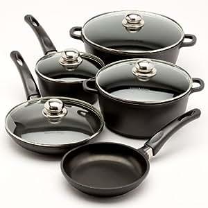 Inkitchen 10 piece aluminum cookware set for Naaptol kitchen set 70 pieces