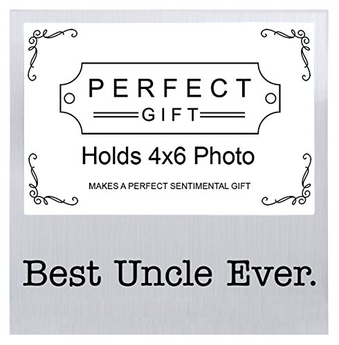 Best Uncle Ever Father's Day Gifts for Uncle Silver Metal 4x6 Landscape Picture Frame (Uncle Picture Frame compare prices)