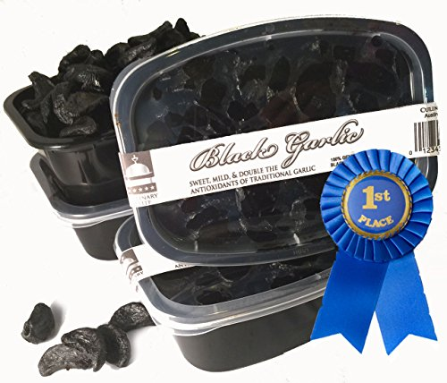 Organic-Grown Sale! 1 lb. PEELED Black Garlic $23.99 for 28 LG. BULBS!! Equal to 2 pounds unpeeled black garlic (No stems, cores, or peels in weight) No GMOS