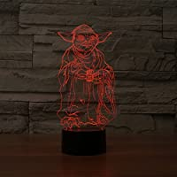 SmartEra® Star Wars Master Yoda 3D Night 7 Color Change USB Touch button LED Light Lamp by SmartEra®