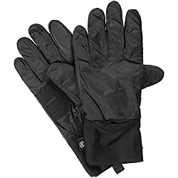 Isotoner Women's Packable Cuff Gloves with Smart Touch Technology, Black, Medium