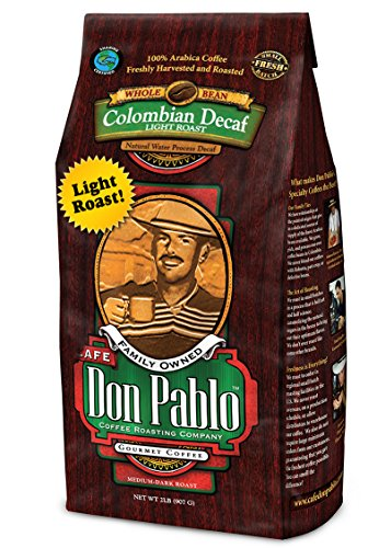 2LB Cafe Don Pablo Light Roast Decaf Swiss Water Process Colombian Gourmet Coffee Decaffeinated - Light Roast - Whole Bean Coffee - 2 Pound ( 2 lb ) Bag (Light Roast Decaf Whole Bean compare prices)