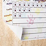 New - Premium Quality Potty Training Reward Chart, Multi Use Removable Self Sticking Plastic Wall Chart and 280 Removable Stickers