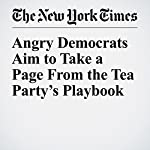Angry Democrats Aim to Take a Page From the Tea Party's Playbook   Jonathan Martin