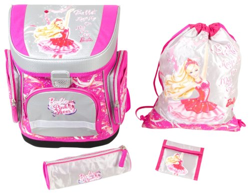 Paxos-33102-Barbie-Pink-Shoes-Schulranzen-Set-4-teilig