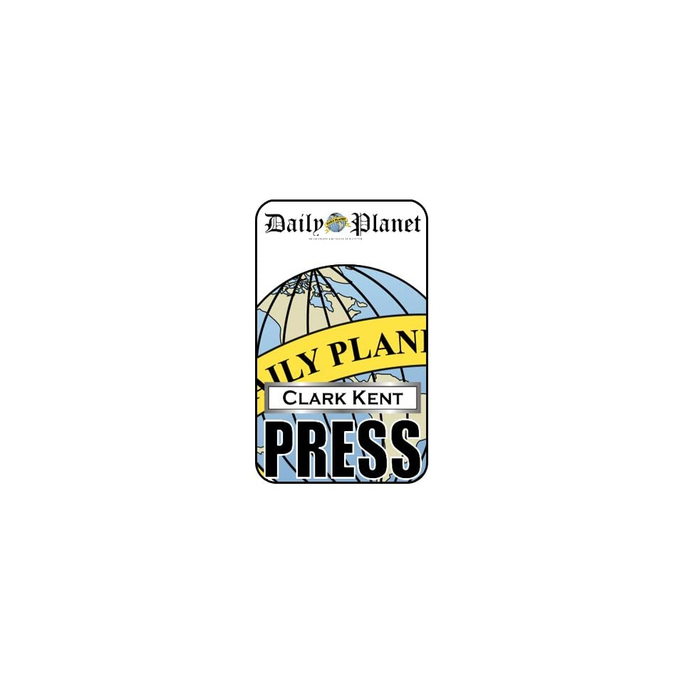 Clark Kent Press Pass Daily Planet