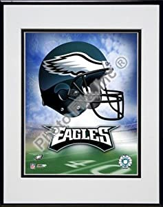 Philadelphia Eagles Helmet Logo Double Matted 8 X 10 Photograph in Black Anodized... by Photo File
